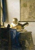 ポストカード フェルメール リュートを調弦する女(窓辺でギターを弾く女)