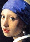 ポストカード フェルメール 真珠の耳飾りの少女(青いターバンの娘)一部